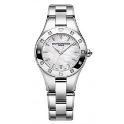 Купить Baume & Mercier Женские Часы Linea 10071 Бриллианты Перламутр