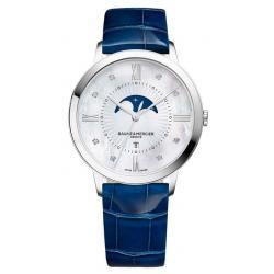 Купить Baume & Mercier Женские Часы Classima 10226 Moonphase Бриллианты Перламутр