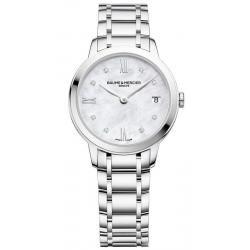 Купить Baume & Mercier Женские Часы Classima 10326 Бриллианты Перламутр