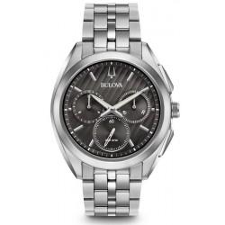 Купить Bulova Мужские Часы Progressive Dress Curv 96A186 Кварцевый Хронограф