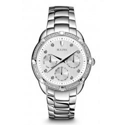 Купить Bulova Женские Часы Diamonds 96S152 Бриллианты Quartz