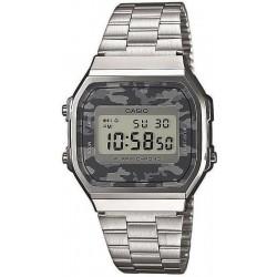 Купить Casio Collection Унисекс Часы A168WEC-1EF Камуфляж Digital Многофункциональный