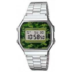 Купить Casio Collection Унисекс Часы A168WEC-3EF Камуфляж Digital Многофункциональный