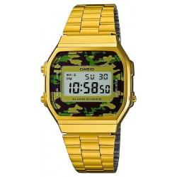 Купить Casio Collection Унисекс Часы A168WEGC-3EF Камуфляж Digital Многофункциональный