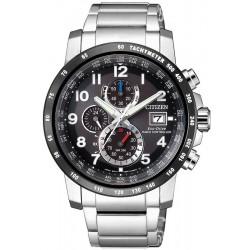 Купить Citizen Мужские Часы Радиоуправляемые H800 Sport Eco-Drive AT8124-83E