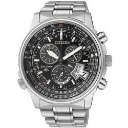 Купить Citizen Мужские Часы Promaster The Pilot Радиоуправляемые Титан BY0081-54E