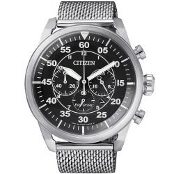 Купить Citizen Мужские Часы Aviator Хроно Eco-Drive CA4210-59E