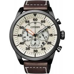 Купить Citizen Мужские Часы Aviator Хроно Eco-Drive CA4215-04W
