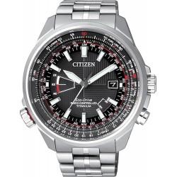 Купить Citizen Мужские Часы Pilot Радиоуправляемые Титан Evolution 5 CB0140-58E