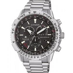 Купить Citizen Мужские Часы Радиоуправляемые Chrono Pilot Super Titanium CB5010-81E