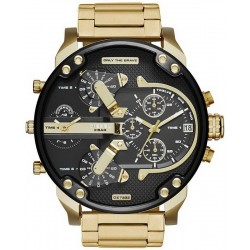 Diesel Мужские Часы Mr. Daddy 2.0 DZ7333 Хронограф 4 Часовых Пояса