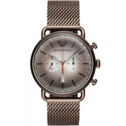 Купить Emporio Armani Мужские Часы Aviator AR11169 Хронограф