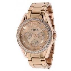 Купить Fossil Женские Часы Riley ES2811 Многофункциональный
