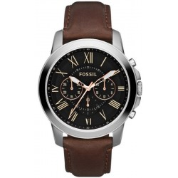 Купить Fossil Мужские Часы Grant FS4813 Кварцевый Хронограф