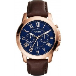 Fossil Мужские Часы Grant FS5068 Кварцевый Хронограф
