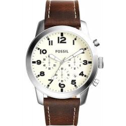 Fossil Мужские Часы Pilot 54 FS5146 Кварцевый Хронограф