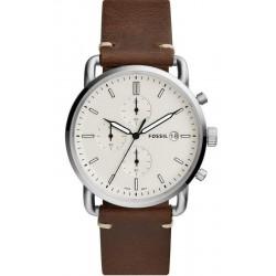 Купить Fossil Мужские Часы Commuter FS5402 Кварцевый Хронограф