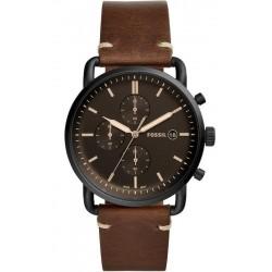 Купить Fossil Мужские Часы Commuter FS5403 Кварцевый Хронограф