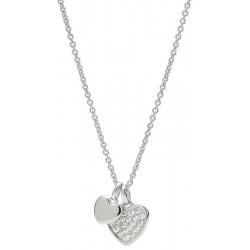 Купить Fossil Женские Ожерелье Sterling Silver JFS00196040 Сердце