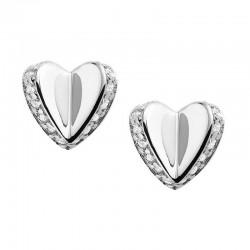 Купить Fossil Женские Серьги Sterling Silver JFS00423040 Сердце