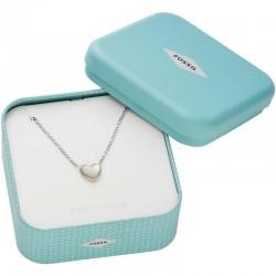 Купить Fossil Женские Ожерелье Sterling Silver JFS00444040 Сердце Перламутр
