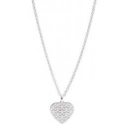 Купить Fossil Женские Ожерелье Sterling Silver JFS00492040 Сердце Перламутр