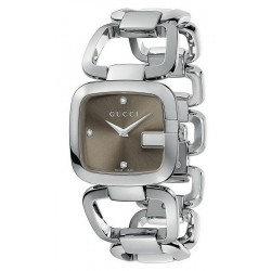 Купить Gucci Женские Часы G-Gucci Medium YA125401 Бриллианты Quartz