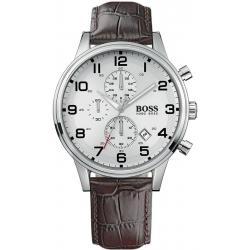 Купить Hugo Boss Мужские Часы Aeroliner 1512447 Кварцевый Хронограф