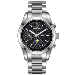 Купить Longines Мужские Часы Conquest Classic Chronograph Moonphase Automatic L27984526
