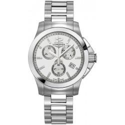 Купить Longines Унисекс Часы Conquest Classic L32794766 Кварцевый Хронограф