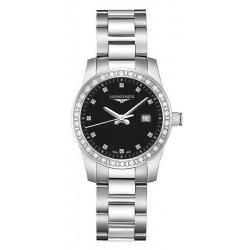 Купить Longines Женские Часы Conquest L33000576 Бриллианты Quartz