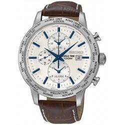 Seiko Мужские Часы SPL051P1 World Time Хронограф Будить Quartz