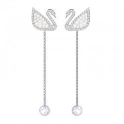 Купить Swarovski Женские Серьги Iconic Swan 5429270