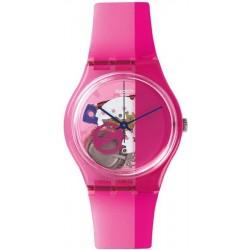 Swatch Унисекс Часы Gent Pinkorama GP145