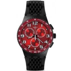 Купить Swatch Мужские Часы Chrono Plastic Testa di Toro SUSB101 Хронограф