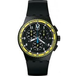 Купить Swatch Мужские Часы Chrono Plastic Sifnos SUSB404 Хронограф