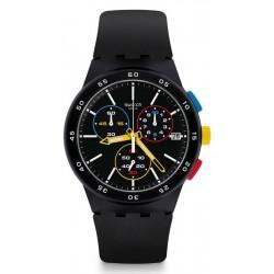 Купить Swatch Унисекс Часы Chrono Plastic Black-One SUSB416