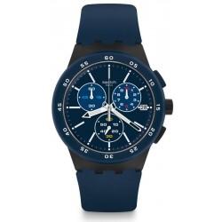 Купить Swatch Мужские Часы Chrono Plastic Blue Steward SUSB417 Хронограф