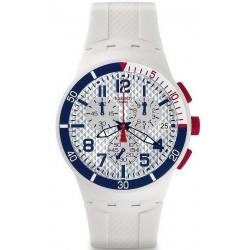 Купить Swatch Унисекс Часы Chrono Plastic Speed Up SUSM401 Хронограф