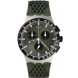 Купить Swatch Мужские Часы Chrono Plastic Sperulino SUSM402 Хронограф