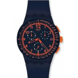 Купить Swatch Унисекс Часы Chrono Plastic Rebirth Blue SUSN401 Хронограф