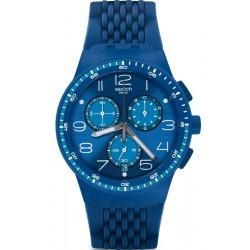 Купить Swatch Унисекс Часы Chrono Plastic Triple Blu SUSN415 Хронограф