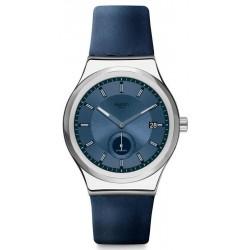 Купить Swatch Унисекс Часы Irony Sistem51 Petite Seconde Blue SY23S403 Автоматический