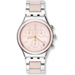 Купить Swatch Женские Часы Irony Chrono Dreamnight Rose YCS588G Хронограф