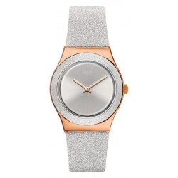 Swatch Женские Часы Irony Medium Grey Sparkle YLG145