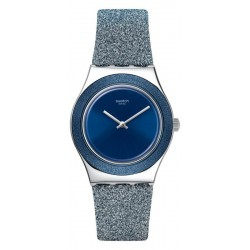 Swatch Женские Часы Irony Medium Blue Sparkle YLS221