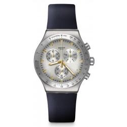 Swatch Унисекс Часы Irony Chrono Darkmeblue YVS460 Хронограф