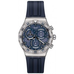 Swatch Мужские Часы Irony Chrono Teckno Blue YVS473 Хронограф