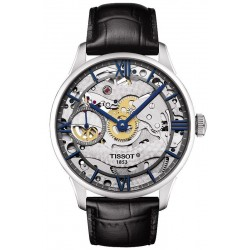 Купить Tissot Мужские Часы Chemin des Tourelles Squelette Mechanical T0994051641800